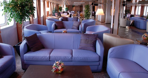 The Salon on the MS La Belle de Adriatique.