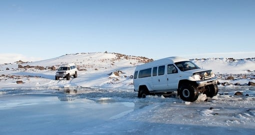 Explore freely in your Iceland Super Jeep