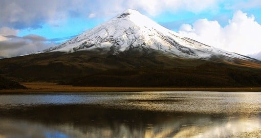 Visit imposing Cotopaxi on your trip to Ecuador