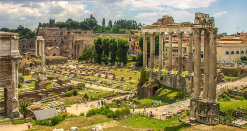 The origins of Rome can be discovered on the Palatine Hill