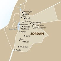 Jordan Country Map