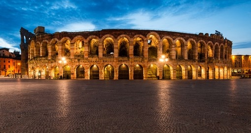 Discover Verona Amphitheater built by Romans in the first century on your next trip to Italy.