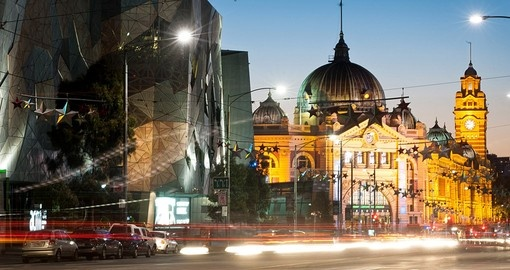 Flinders Station as seen from Flinders Street is a must visit on all Australia vacations.