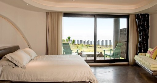 Unwind in your luxurious room on your trip to Easter Island