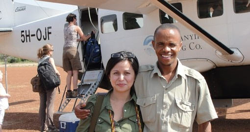 Goway's Africa Expert with guide in East Africa