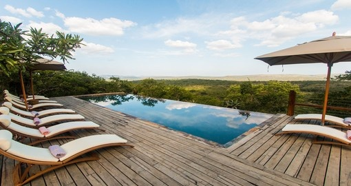 Have a nice swim after a very busy day at Rhino Ridge Safari Lodge during your next South Africa safari.