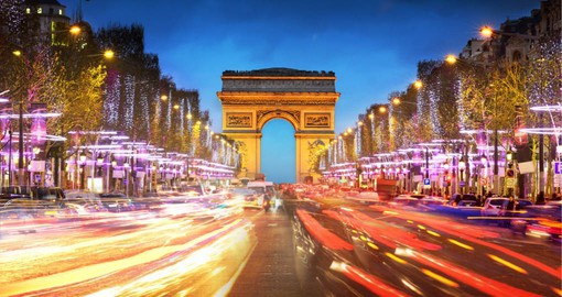 Overlooking the Champs-Elysées, the Arc de Triomphe is the biggest arch in the world