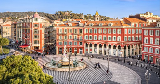 Visit a plaza in Nice during your next France vacations.