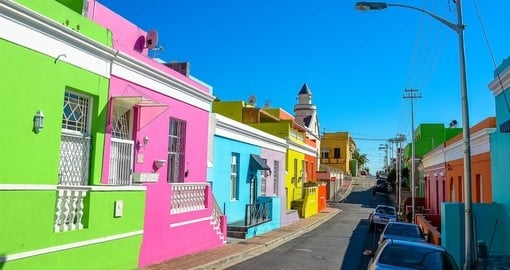 See the colourful homes in Bo-Kaap during your South African Vacation
