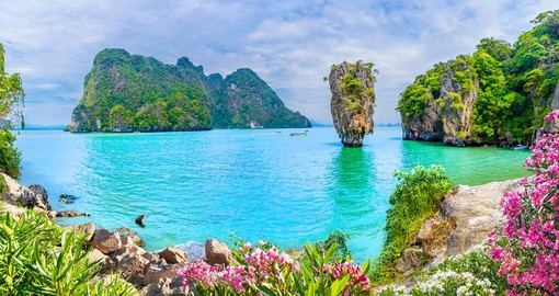 the Strait of Malacca Phang Nga Bay gained fame from a James Bond movie