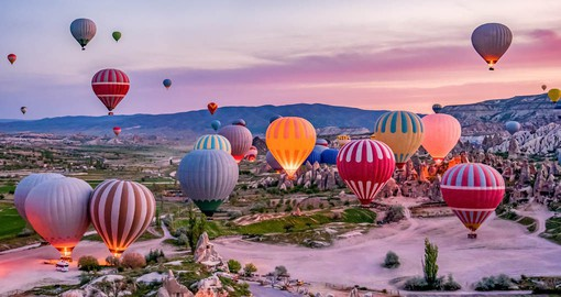 Cappadocia with it famous rock formations is best seen on a Hot Air Balloon Tour