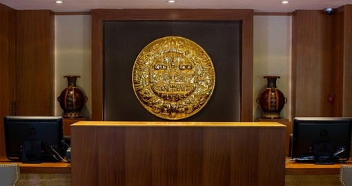 The Sumaq Hotel is decorated with authentic artwork which you will see on your next Peru vacation.