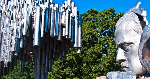 Part of the monument for Sibelius