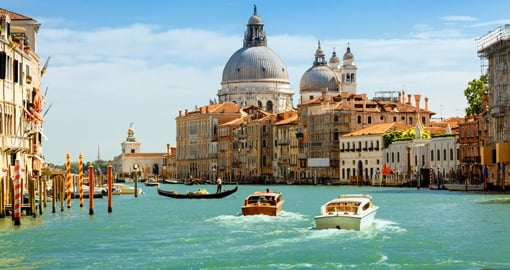 Cruise the iconic Grand Canal on your European tour