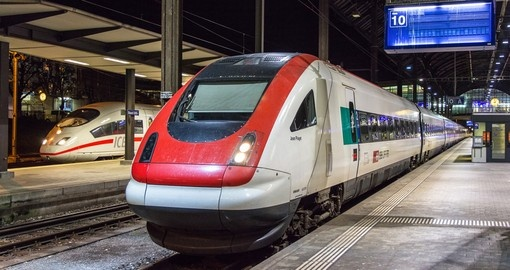 Swiss tilting high-speed train in Basel, Switzerland