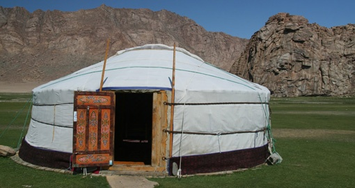There is an option to overnight in a Yurt