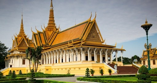 Enjoy a tour of the Royal Palace in Phnom Penh on your Cambodia Tour