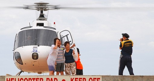 Soar over the outback in a helicopter and enjoy scenic views of Uluru/Ayers Rock on your Australia Vacation