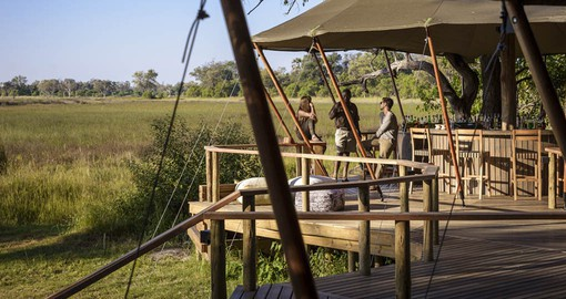 Stanley Camp, a classic tented camp located on a private concession in the Okavango Delta