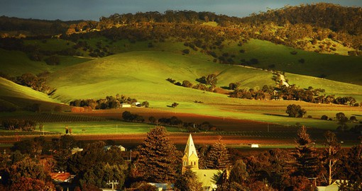 The Barossa valley is hillside landscape that is dotted with greenery and grape trees, a necessary stop on your Australia Vacation
