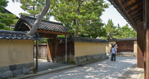 Explore historical samurai neighbourhoods like this one in Kanazawa