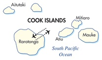 Cook Islands Destination Map