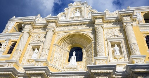 An iconic Antigua location, La Merced Church, is a must during your Guatemala Vacation