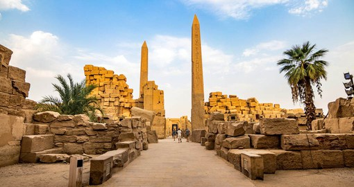 One of Ancient Egypt's grandest building projects, the Temple of Karnak was begun around 2000 BC