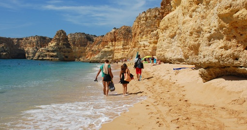 Take a long walks or have a sunbathe on Algarve's beaches during your next European vacations.