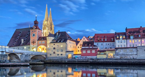 Regensburg, Germany's best preserved medieval city sits at the northernmost point of the Danube River