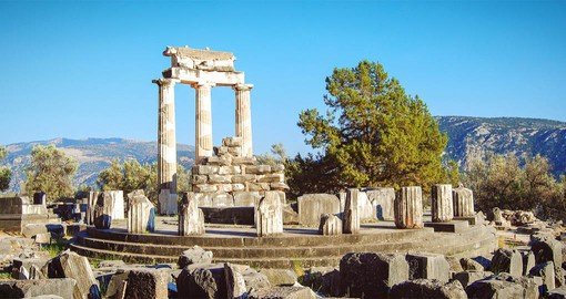 Your trip to Greece includes a visit to Delphi and the Sanctuary of Athena Pronaia