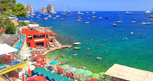 Capri is famed for its rugged landscape, upscale hotels and boutiques
