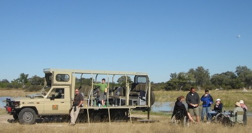 Morning coffee stops are always a welcome addition on all Botswana safaris.