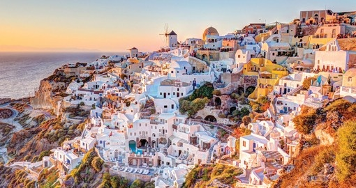 Santorini is part of your cruise to Italy