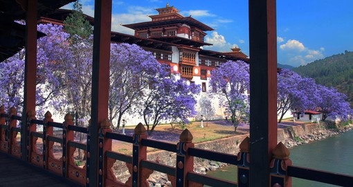 See beautiful Punakha Dzong on your Bhutan Vacation