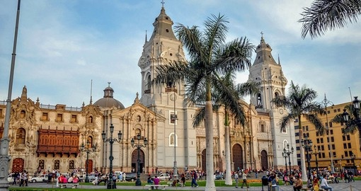 Stroll through Lima's Plaza de Armas on your Peru Tour