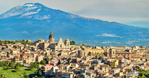 Imposing Mt Etna is Europe's tallest active volcano and is visited on your trip to Italy