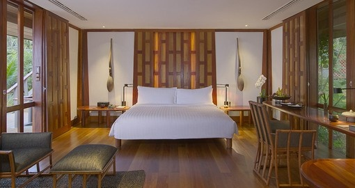 Enjoy the full luxury experience while staying in the Pavilion Bedroom on your Thailand Vacation