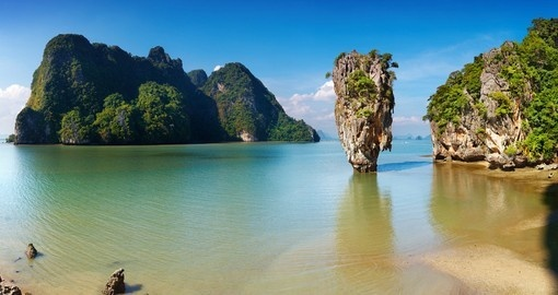 Marvel in the beauty of James Bond Island in the surrouding area of Phuket on one of your Thailand Tours