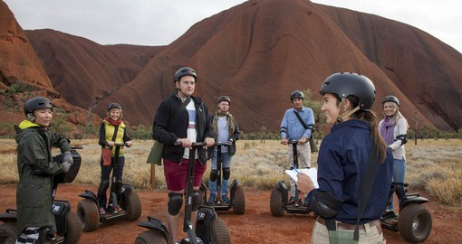Include a unique experience at Ayers Rock by segway on your Australia Vacation