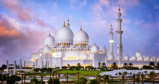 Designed by architects from the UK, Italy and the Emirates, The Sheikh Zayed Grand Mosque is one of the largest in the world