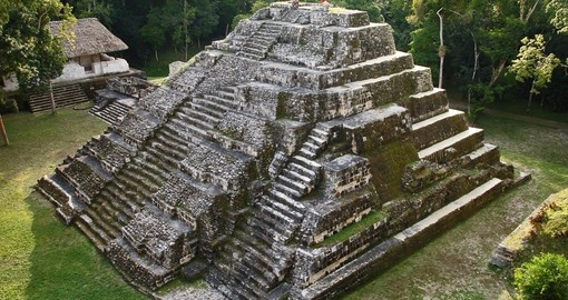 An ancient Mayan pyramid