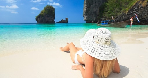 Lay on the powdery white sandy beaches of Phuket during your Thailand vacation