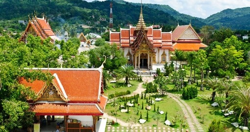 Wat Chalong - The most important of the 29 buddhist temples of Phuket