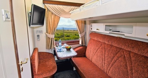 Comfortable on-board accommodation