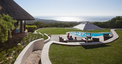 Grootbos Garden Lodge pool deck