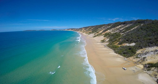 Take a Great Beach Drive on Rainbow Beach during your next Australia vacations.