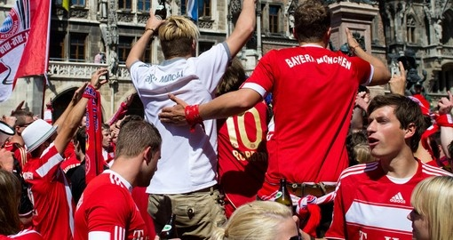 Soccer Fans in Munich