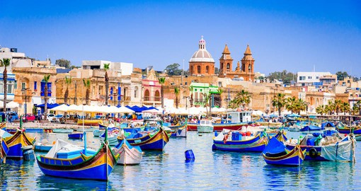 The small and picturesque fishing village of Marsaxlokk supplies the island with an abundant supply of seafood