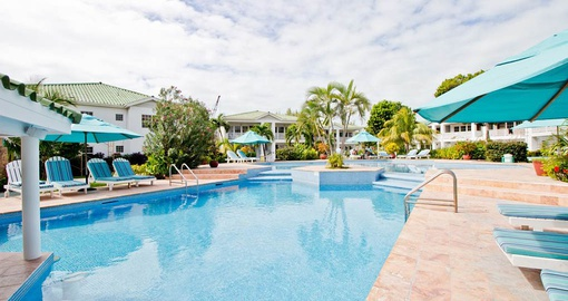Enjoy the pool at your resort on you Belize vacation
